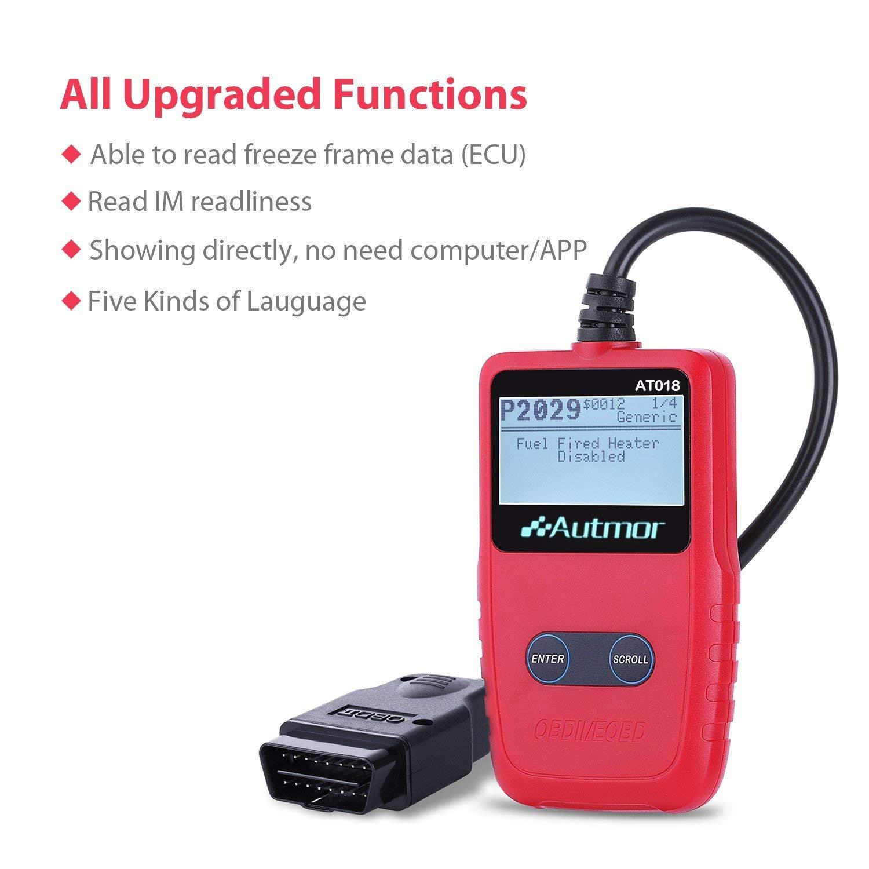 Car Engine Fault Code Reader CAN Diagnostic Scan Tool for Most Vehicles /… OBDII Reader Autmor OBD2 Scanner