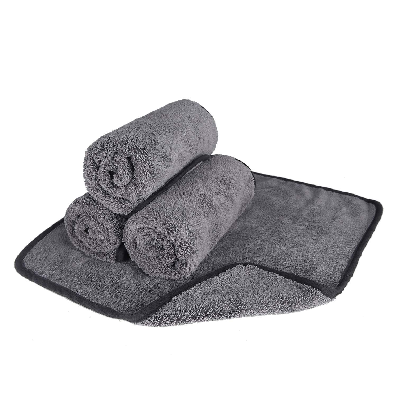Bayeta de Limpieza de Microfibra Secado Toalla paños de Limpieza Toallas de Lavado de Coches Engrosamiento de Absorbente Auto Lavado el Cuidado del ...