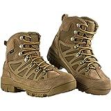 FREE SOLDIER Botas tácticas de Tiro Medio Alto Zapatos de Trekking de Invierno Botas de Cuero, Hombre