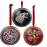 GAME OF THRONES 3 House Crests Ornament Set