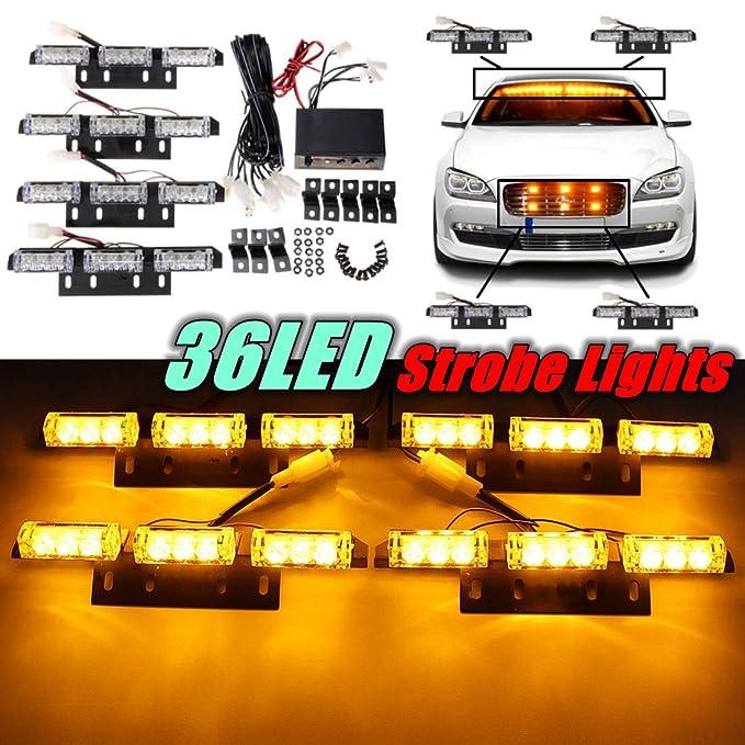 2 opinioni per Audew 36 LED Lampeggianti luci di Emergenza Stroboscopiche Piattaforma Luce con
