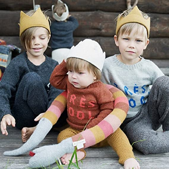 8bab5d34e BAOBAO Handmade Baby Newborn Toddler Infant Soft Knit Crown Hat Cap  Headwear Beanie