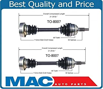 New CV Drive Axle Shaft Assemblies Set Left and Right Side For 1992-2001  Toyota Camry V6 3 0L Avalon ES300 Bolt On