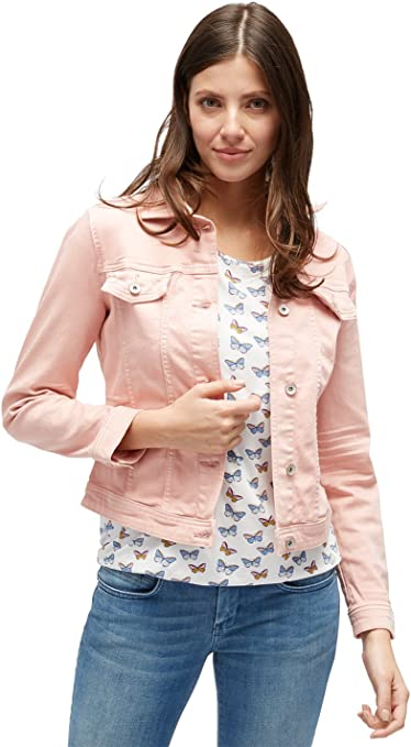 TALLA XL. Tom Tailor Signature Color Denim Chaqueta Vaquera para Mujer