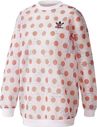 f83ea59120cd6 adidas Osaka Sweatshirt Sweat-Shirt Femme Blanc/Rouge