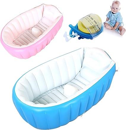 vaschetta gonfiabile per bagnetto vasca neonati bambini da viaggio portatile