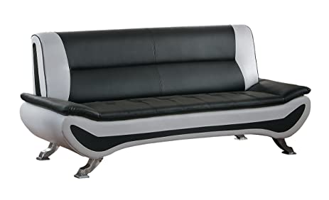 Homelegance Veloce Two Tone Modern Low Profile Sofa, Black
