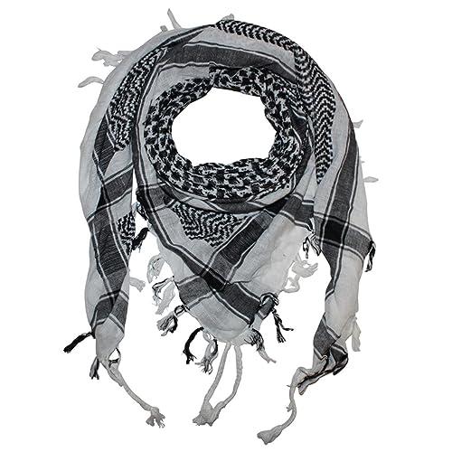 Superfreak® Pañuelo pali con color de base blanco°chal PLO°100×100 cm°Pañuelo palestino Arafat°100% algodón – ¡Todos los colores!