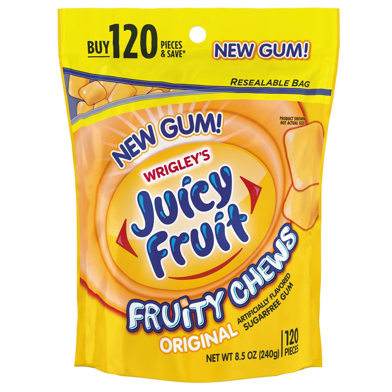 JUICY FRUIT Gum Fruity Chews Sugarfree Chewing Gum, 120 Pieces by Juicy Fruit Gum