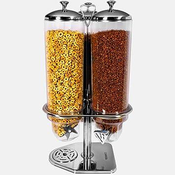 Dispensador de cereales Triple – juego de desayuno grande niños 3 de plástico hermético de alimentos