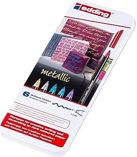 edding 1300-40S - Estuche de metal con 40 rotuladores, multicolor: Amazon.es: Oficina y papelería