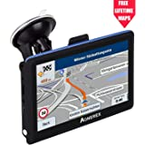 Aonerex Sat Nav GPS Navigation system, 5 inch HD Touch Screen, Satellite Navigator Device with Post CodeSearch,Pre-installed UK and EU Latest 2018 Maps with Lifetime Free Updates