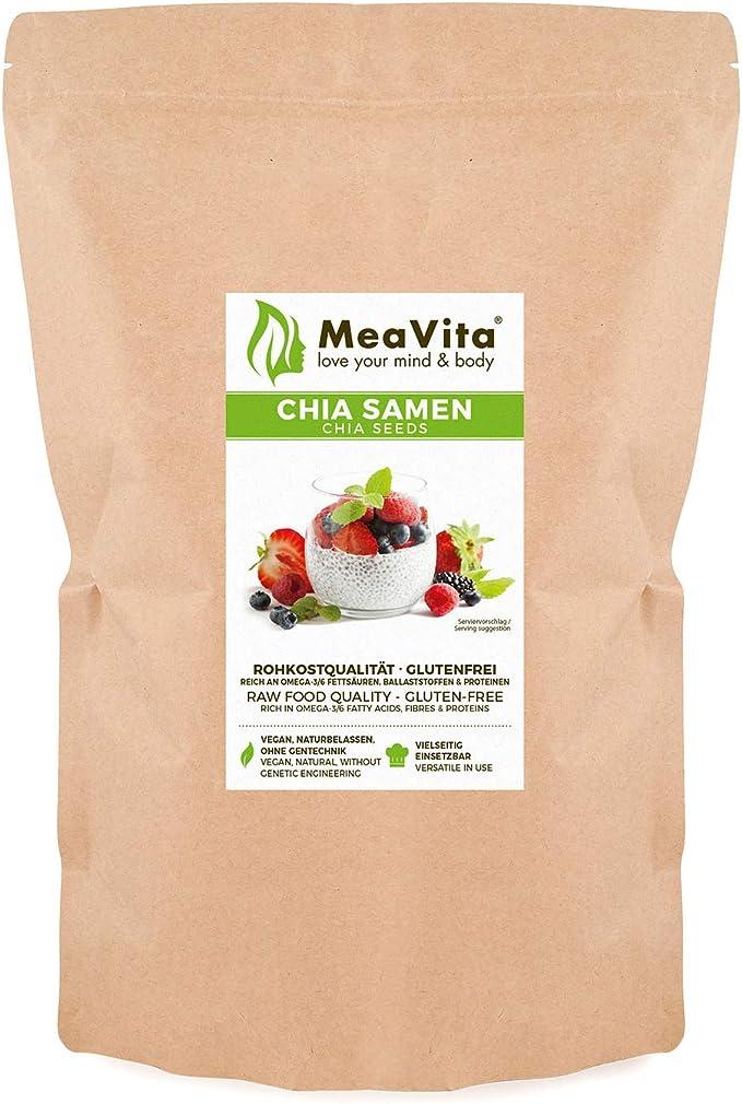 Meavita Semillas De Meavita Chia, 1 Paquete (1 X 1000G) 1000 g ...
