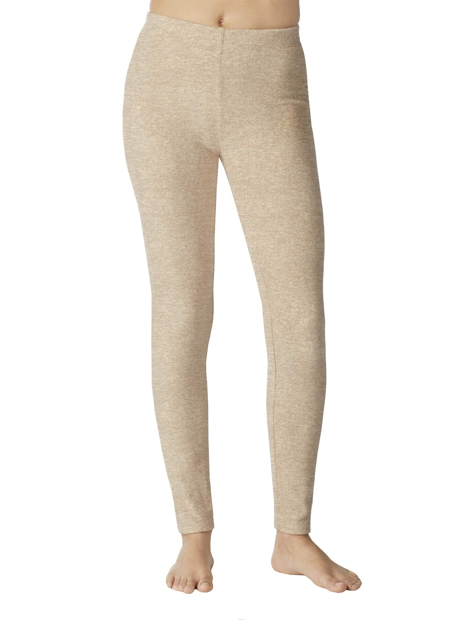Cuddl Duds ClimateRight Women's Stretch Fleece Warm Underwear Leggings (4X-Large - Oatmeal) by Cuddl Duds