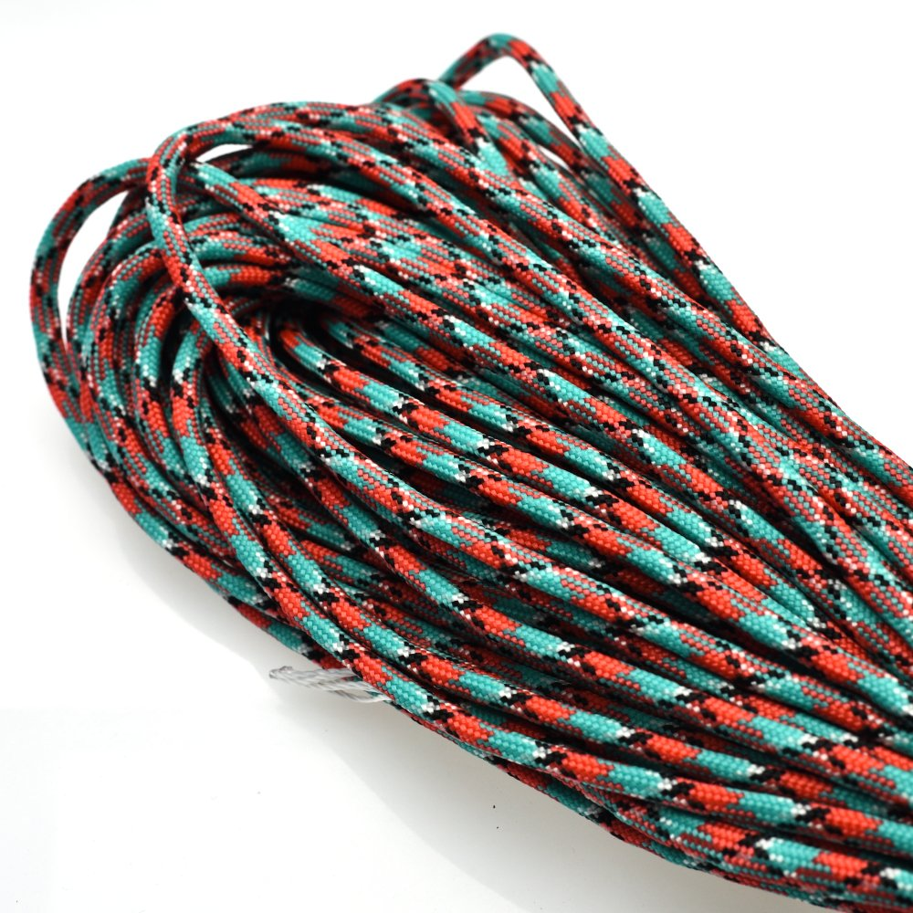 sacoora 1pcs 100ft 550 Paracord Parachute Cord Lanyard Mil Spec Type III 7 Strand Core