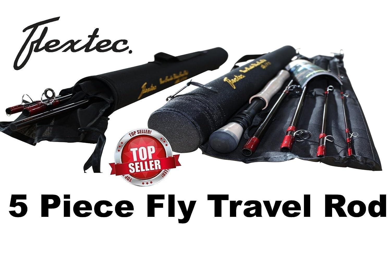 Flextec™ Oscar Travel Trout Lake River Fly Fishing Rod 9ft 5 piece #7/9 & case RMT90579R