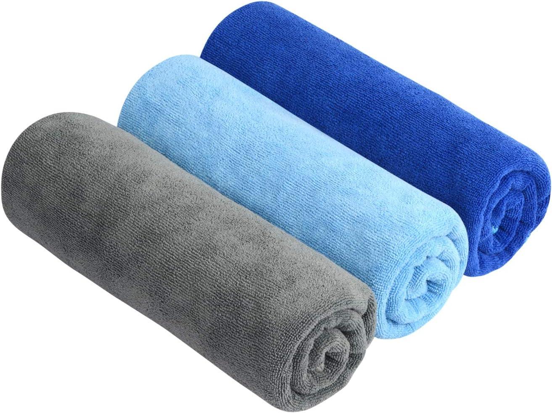 SINLAND Multiuso Asciugamano in Microfibra Ultra Assorbente Asciugamani Palestra Asciugamani di Viaggi Confezione da 3