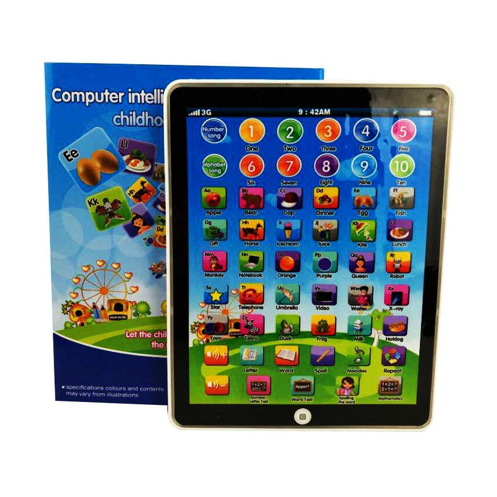 Keklle Kids Children Mini Imitative iPad Toy Intelligent Early Educational  Learning Playing Tablet Toys Christmas Birthday Gift for Girls Boys Baby ...
