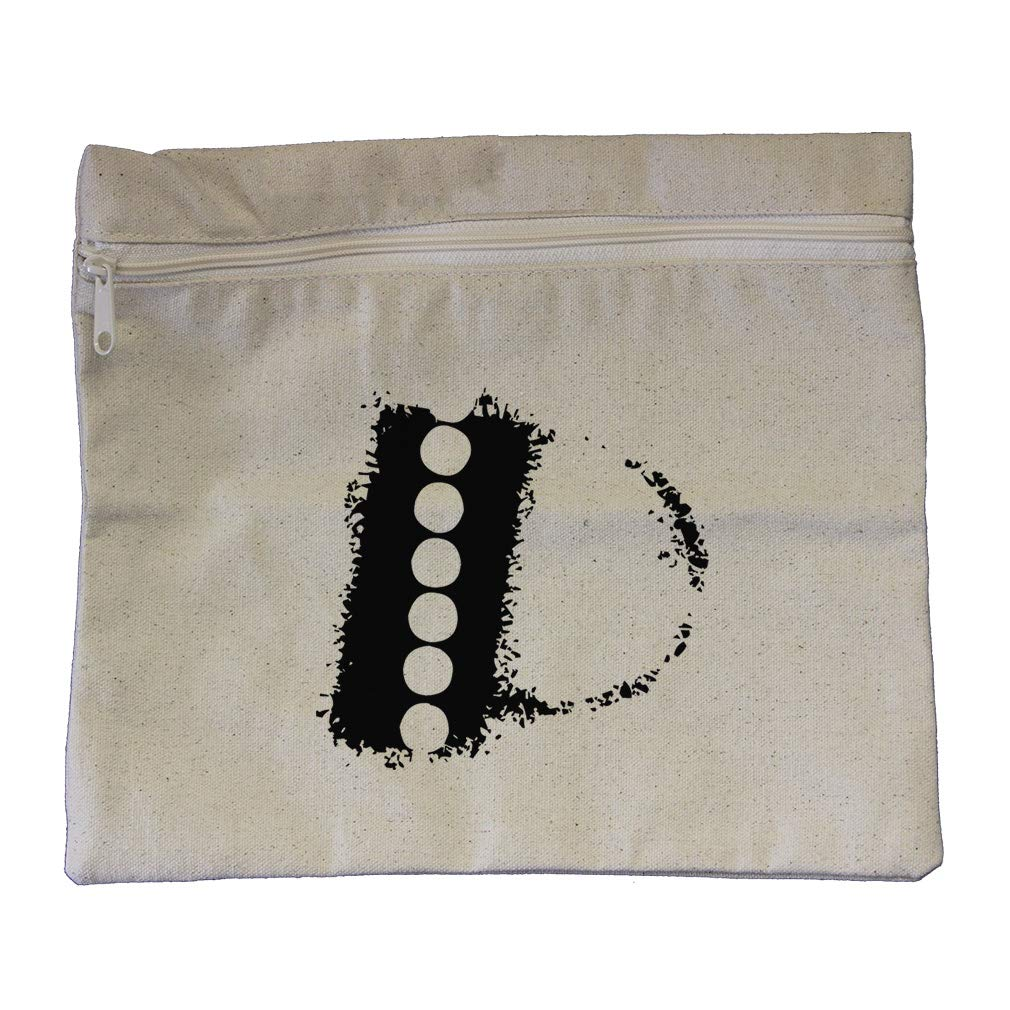 ''P'' Hotel Initial Monogram Letter P Cotton Canvas Zippered Pouch 12''x10''