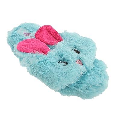 5fefb3a20ff9e8 4 Kidz Childrens Girls Rabbit Design Toe Post Flip Flop Slippers (11 Child  US