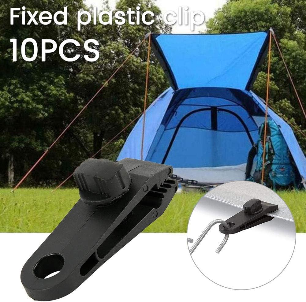 5PCS Waterproof Tent Tarp Tarpaulin Clip Clamp Buckle Camping Tool Heavy Duty