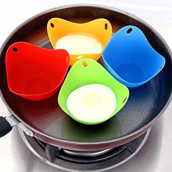 Amazon.com: Juego de 8 huevos de silicona para microondas y ...