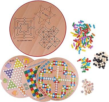 Sharplace 10 En 1 Juguete de Ajedrez de Madera Juegos de Mesa Juegos de Familiar: Amazon.es: Juguetes y juegos