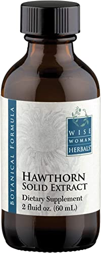 Wise Woman Herbals Hawthorn Solid Extract Supports Healthy Blood Pressure and Heart Function, All-Natural Supplement Promotes Cardiovascular Health and Muscles, Alcohol-Free – 2 oz