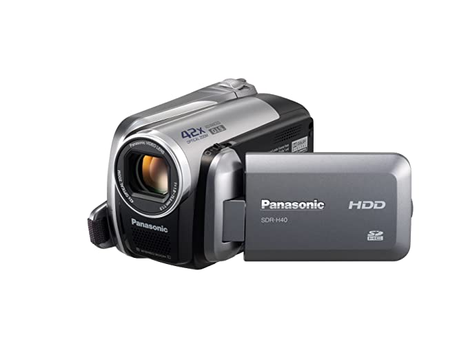amazon com panasonic sdr h40 40gb hard drive camcorder with 42x rh amazon com