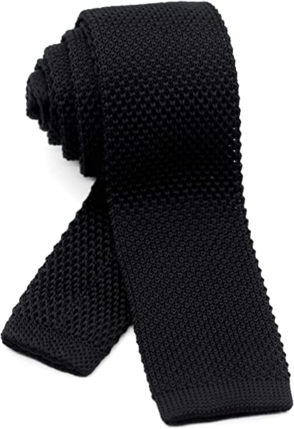 Men/'s Stylish Luxury Slim Skinny Knitted Woven Tie With Pointed End