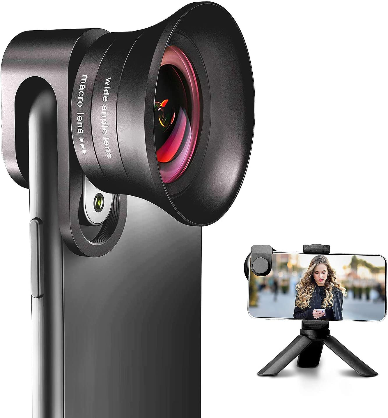 Handy Kameraobjektiv Pro Mit Stativ Angfly 4k Hd Kamera
