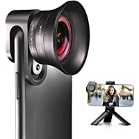 iPhone Camera Lens Pro with Tripod - ANGFLY 4K HD 120° Wide Angle Lens & 20X Super Macro Lens, Phone Camera Lenses…