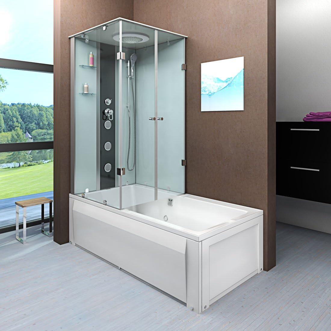 Acqua Vapore dtp50 de a000r bañera ducha Templo bañera ducha cabina de ducha 90 x 180: Amazon.es: Bricolaje y herramientas