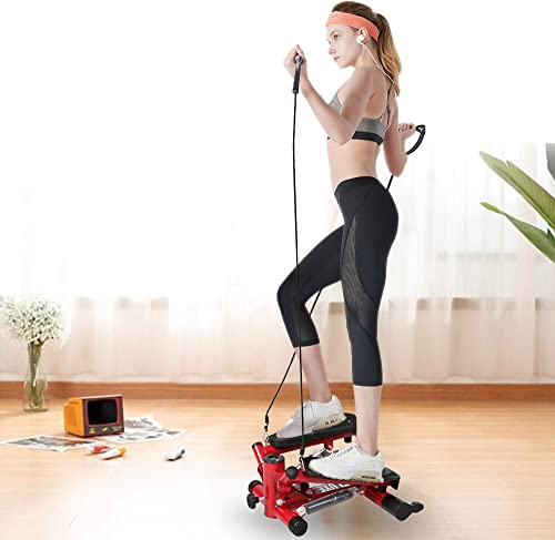 Livebest Adjustable Mini Stepper Indoor Stepping Machine Twist Stair Stepper Aerobic Trainer