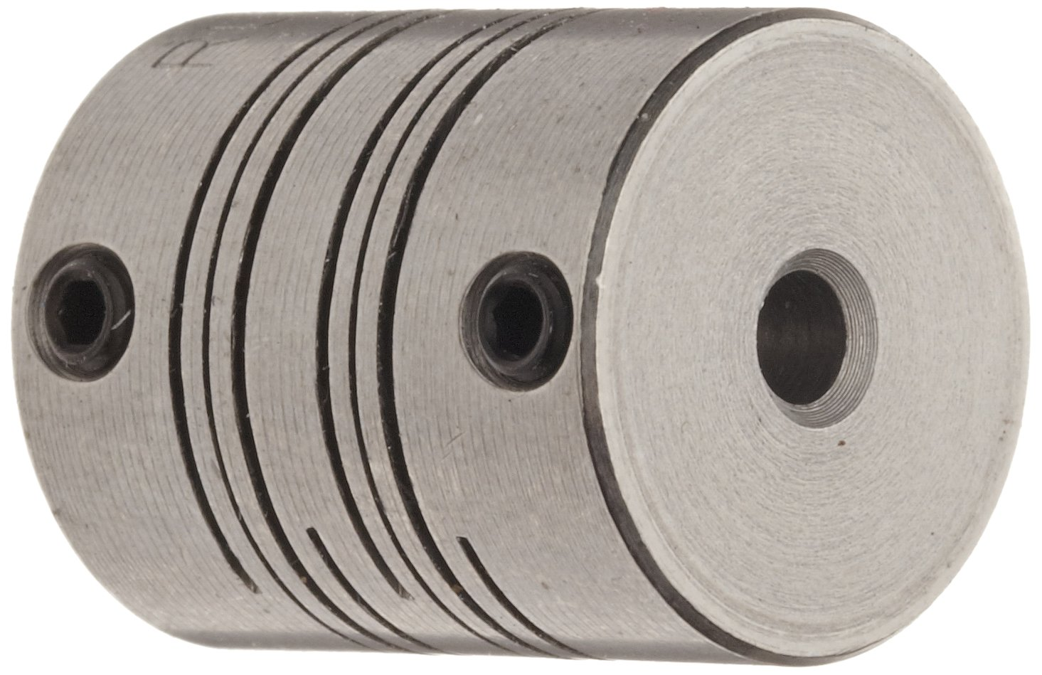 Stainless Steel 2-1//4 Length Inch 5//8 Bore A Diameter 3//8 Bore B Diameter 1-1//2 OD 175 lb-in Nominal Torque Ruland FSR24-10-6-SS Set Screw Beam Coupling