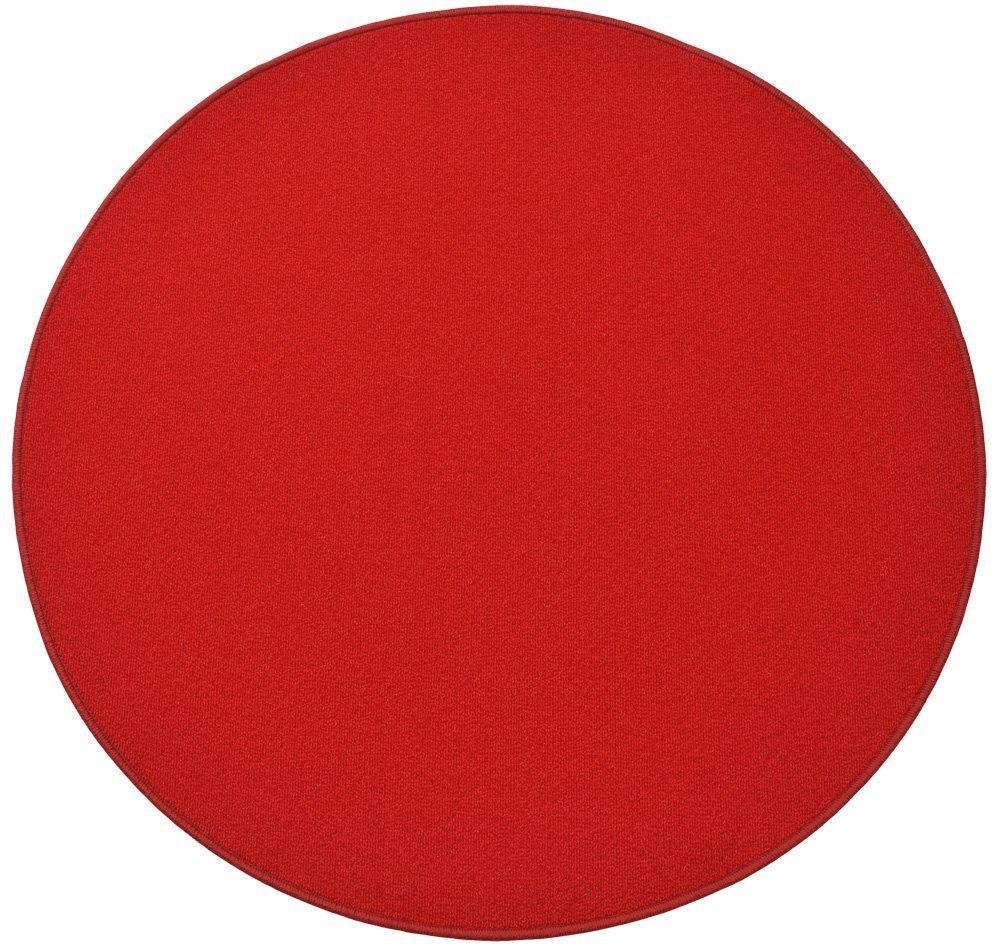 円形ラグ 撥水 滑り止め付 径160cm シグナルレッド B06XQY225H 径160cm,11.シグナルレッド