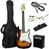 RockJam RJEG02-SK-SB Electric Guitar Starter Kit (Sun Burst)