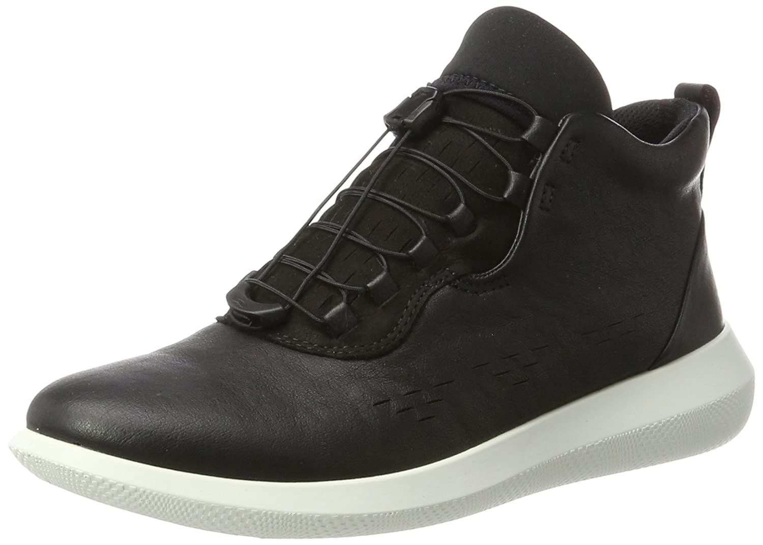 ECCO Women's Scinapse High Top Fashion Sneaker B072B8T33J 36 EU/5-5.5 M US|Black/Black