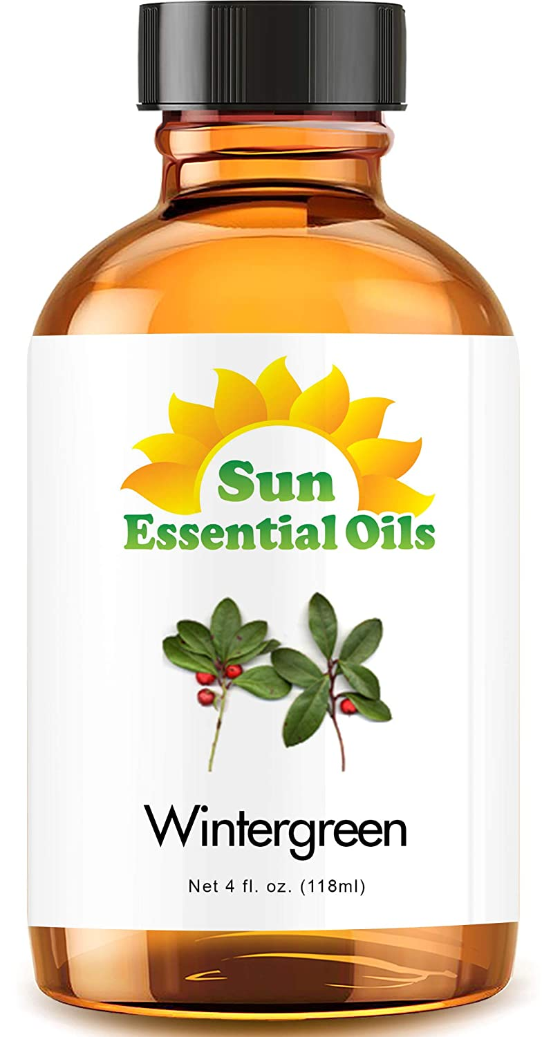 Wintergreen Essential Oil (Huge 4oz Bottle) Bulk Wintergreen Oil - 4 Ounce