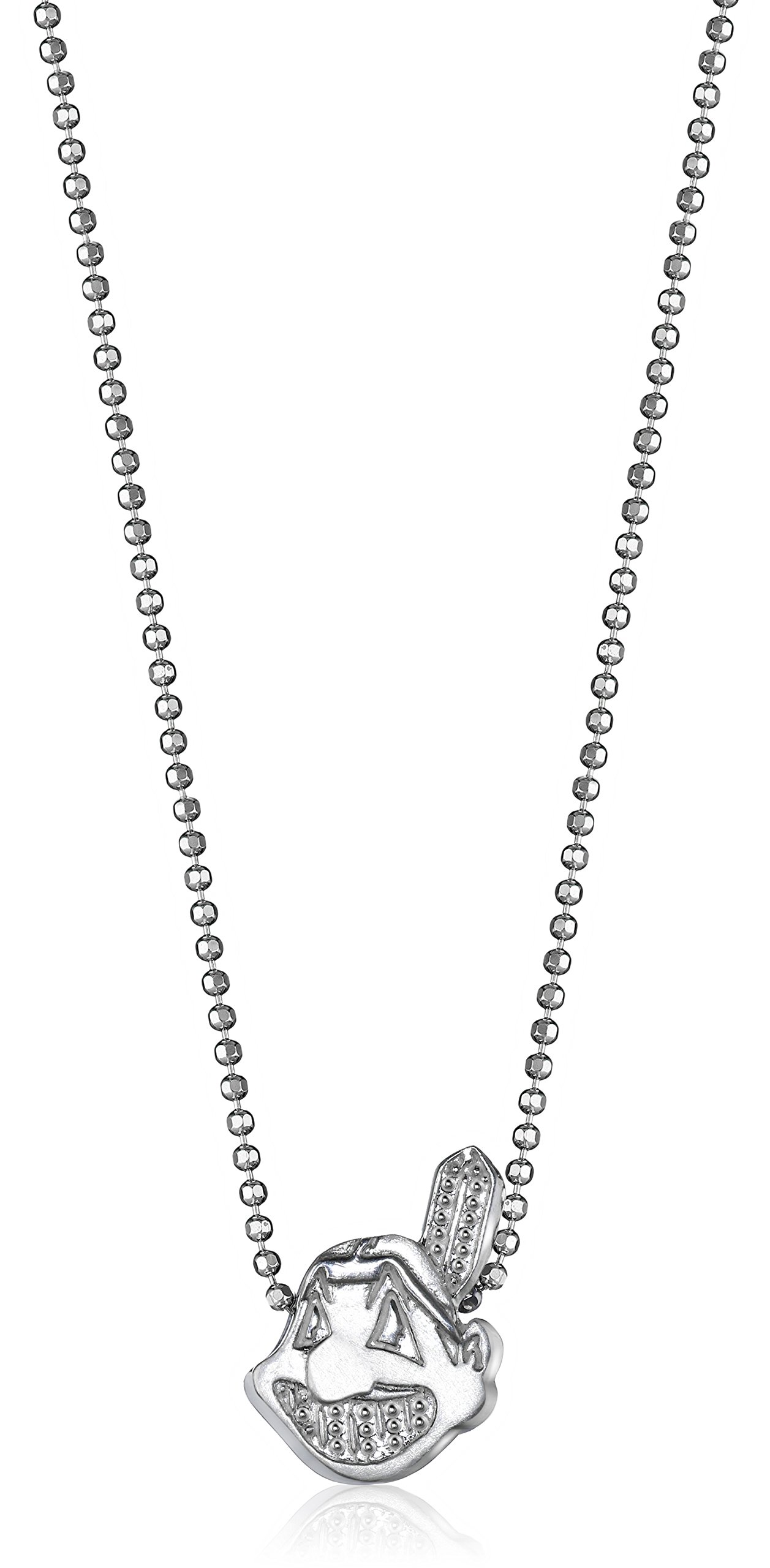 Alex Woo Little MLB Sterling Silver Cleveland Indians Pendant Necklace, 16''