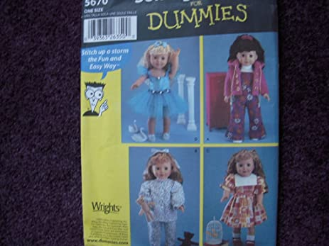 Amazon Simplicity 5670 For Dummies Sewing Pattern Makes 18