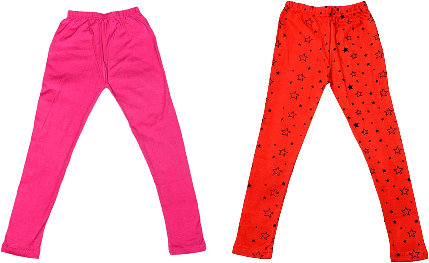 Pack of 3 Indistar 2 Solid and 1 Printed Ankle Length Legging For Girls