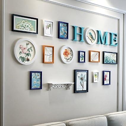 Amazon.com: Home@Wall photo frame Bedroom Photo Frame Sets,Living ...