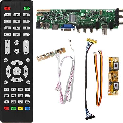 SimpleLife V56 V59 Placa de Controlador LCD Universal DVB-T2 TV ...