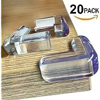 Ellas Homes CLEAR CORNER PROTECTORS (20 Pack) | High Resistant Adhesive Gel  | Best