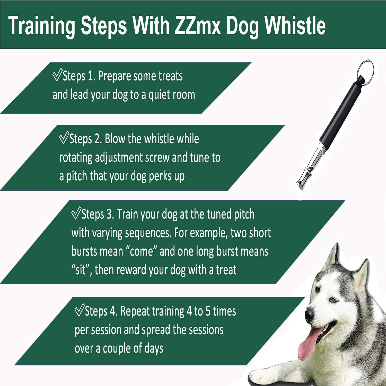 ZZmx Dog Whistle to Stop Barking,Silent Dog Whistle for Dog Barking Control,Silent Dog Whistle