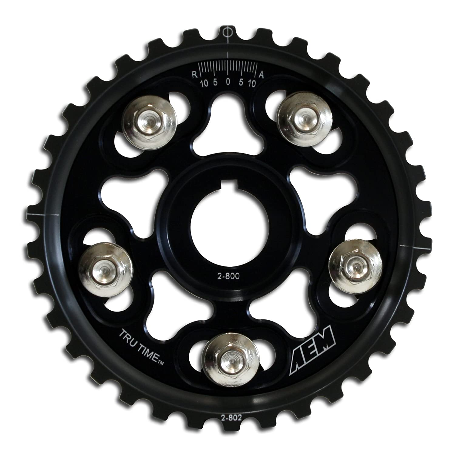 AEM 23-802BK Black Tru-Time Adjustable Cam Gear