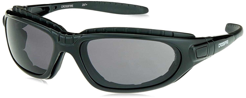 969675478de1b Crossfire Safety Glasses Journey Dark Smoke Anti-Fog Lens Shiny Black Frame  Foam Lined - Eye Protection Equipment - Amazon.com