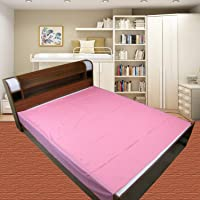 Dolphers Waterproof Plastic Mattress Protection Sheet for Baby and Adult - Double Bed/King Size - 7.5 x 6.5 feet - Pink