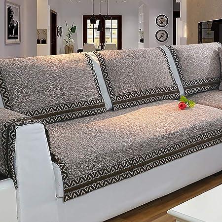 Copridivano Per Divano In Pelle.Home Sofa Heavyweight Cotone E Lino Copridivano Stile Nordico